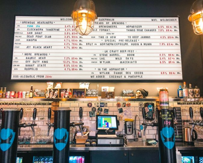 How to make the most out of two days in Stockholm. Where to drink in Stockholm. Try out BrewDog in Sodermalm!